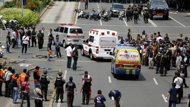 Jakartai merényletek: több robbantás és lövöldözés a városban / Fotó:MTI