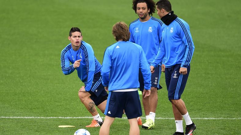 Ronaldo az egyik edzésen felelevenítette James Rodríguez gyorshajtását / Fotó: AFP