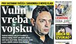 """""""BLIC"""" OTKRIVA Prvi sastanak Vučića i saradnika o novoj vladi: VULIN VREBA VOJSKU"""