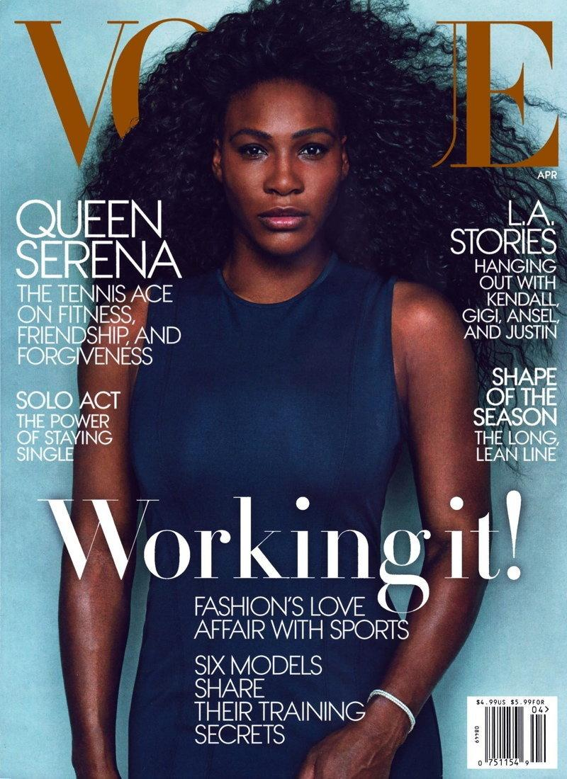 Serena Williams  na okładce VOGUE / fot. Annie Leibovitz