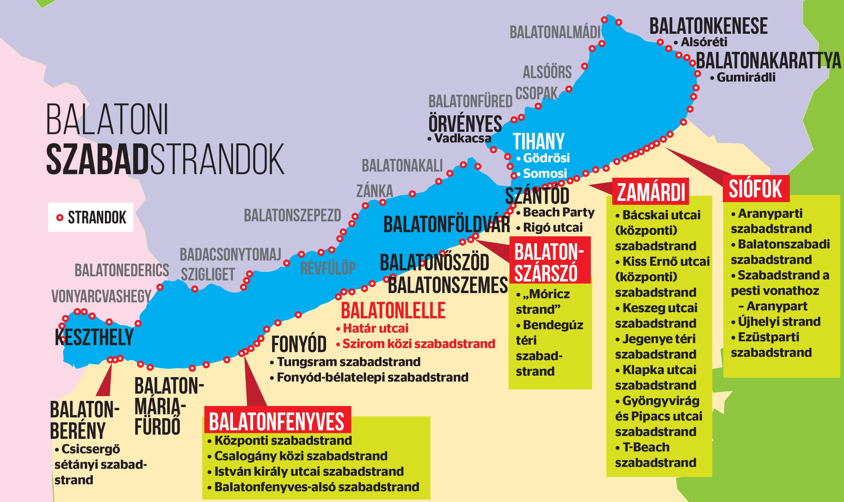 balaton szabadstrandok térkép Megújul a Balaton: több százmilliárdból fejlesztik a magyar tenger  balaton szabadstrandok térkép