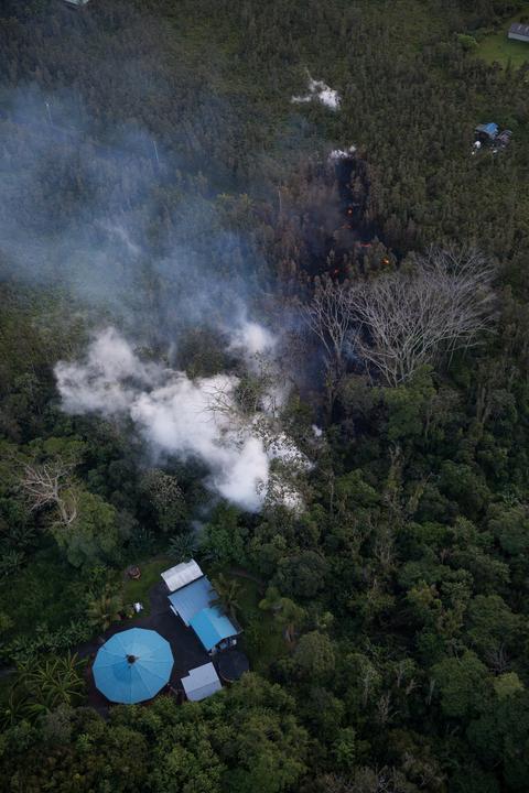 A vulkán kitörése miatt 1700 lakos kitelepítésére volt szükség /Fotó: MTI