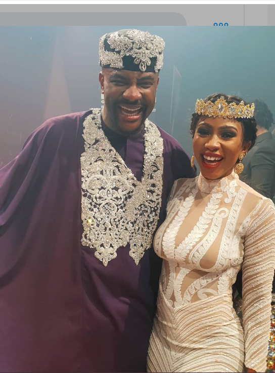 Big Brother Naija host Ebuka and 2019 winner Mercy via Multichoice Nigeria