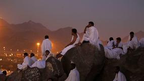 Pielgrzymi na górze Arafat