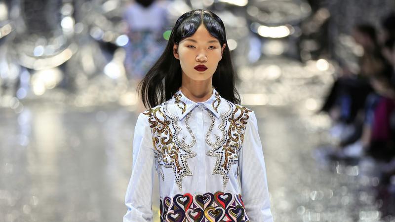 Kínai divat hét Pekingben / Fotó: MTI
