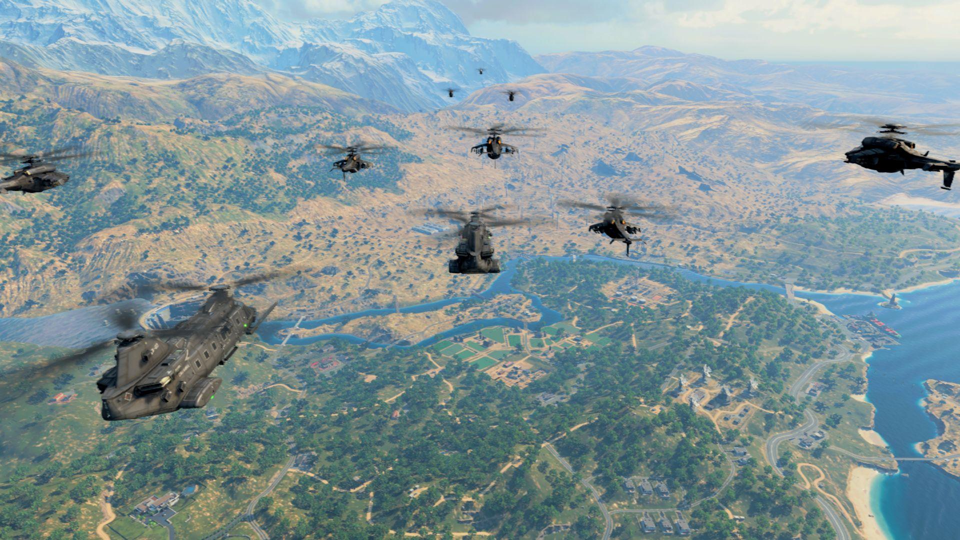 Zoskok z transportného vrtuľníka otvára boj o prežite.