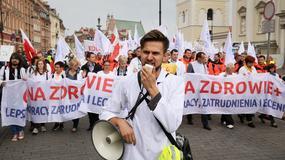Warszawa: Manifestacja Porozumienia Związków Medycznych. Zobacz zdjęcia