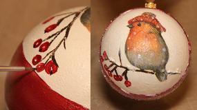 Własnoręcznie robiona bombka świąteczna - krok po kroku
