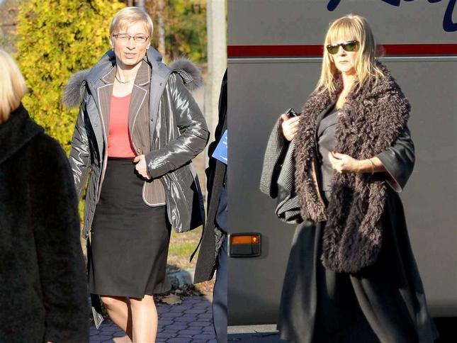 Żony Gosiewskiego w parlamencie. Która lepiej ubrana?
