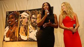 Zachwycająca Wozniacki w czerwieni. Serena Williams pokazała brzuch...