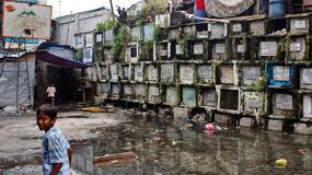 Życie na cmentarzu Navotas w Manili