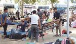 Prostor oko Autobuske stanice gde borave migranti radnici čiste 24 sata