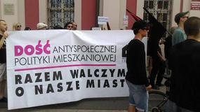 """Pikieta przed Urzędem Miasta Poznania. """"Stop brutalnym eksmisjom"""""""
