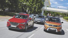 Fiat 500X kontra Mazda CX-3 i Suzuki Vitara - porównanie kompaktowych SUV-ów