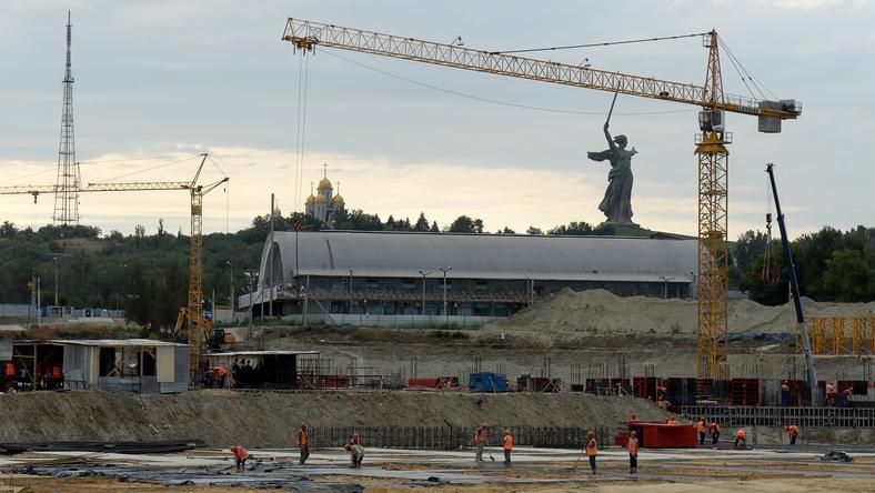 A most épülő stadion tartóeleme nem bírta a terhet/Fotó: AFP