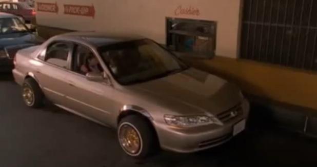 Screenshot of Taraji P Henson and Tyrese Gibson in a Honda Accord 1998 in the movie 'Baby Boy' (imcdb)