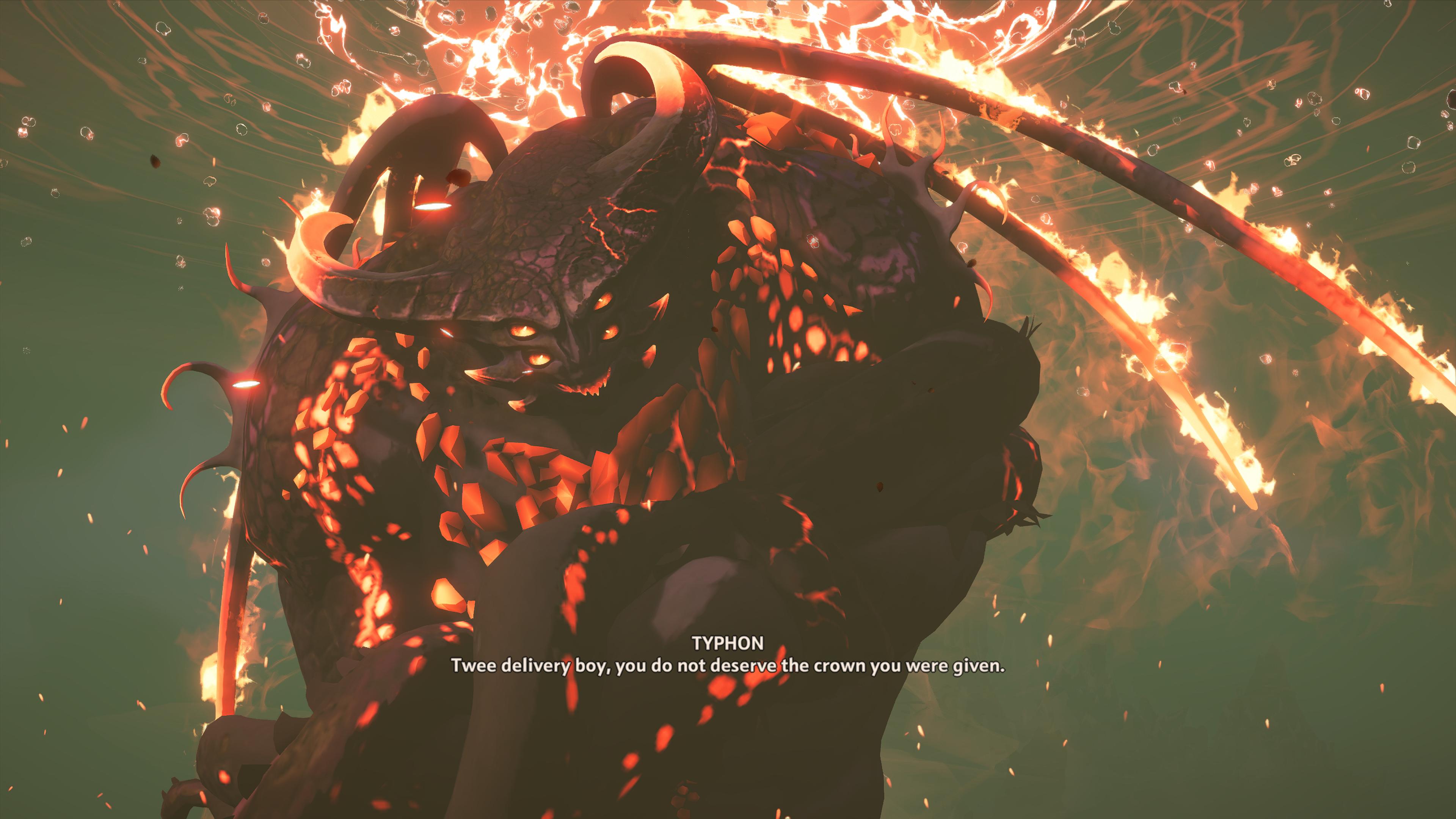 Typhon zastáva rolu hrôzostrašného nepriateľa bravúrne.
