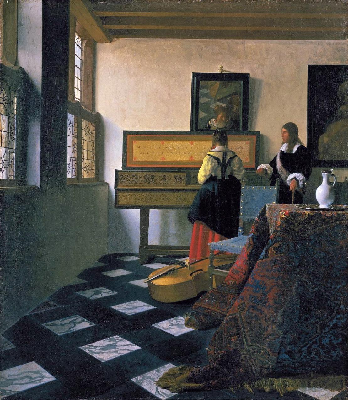 Jan Vermee - Lekcja muzyki (1659-1664)