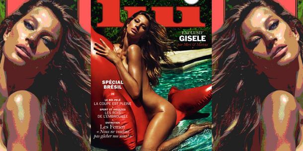Naga Gisele Bündchen na okładce Lui Magazine