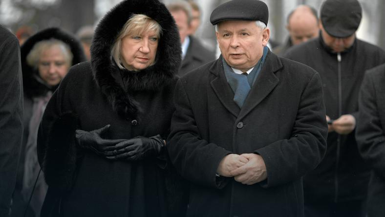 Halina Rosiak z Jarosławem Kaczyńskim, fot. Marcin Stępień / Agencja Gazeta