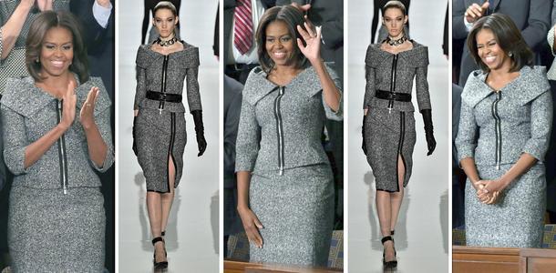 Best Look: Michelle Obama w kostiumie Michaela Korsa