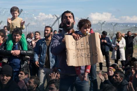 Migranti u Idomeniju