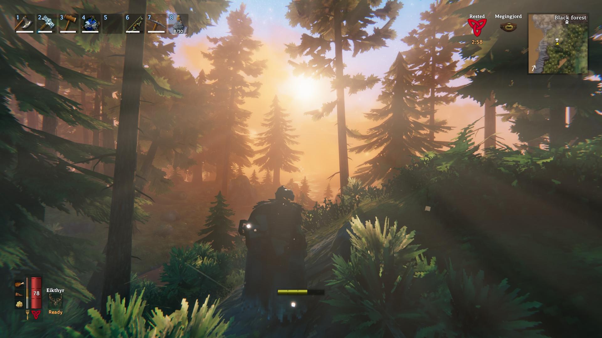 Hoci sa autori snažia imitovať retro grafiku prvých 3D hier, napriek tomu vie byť Valheim prekrásnym miestom.