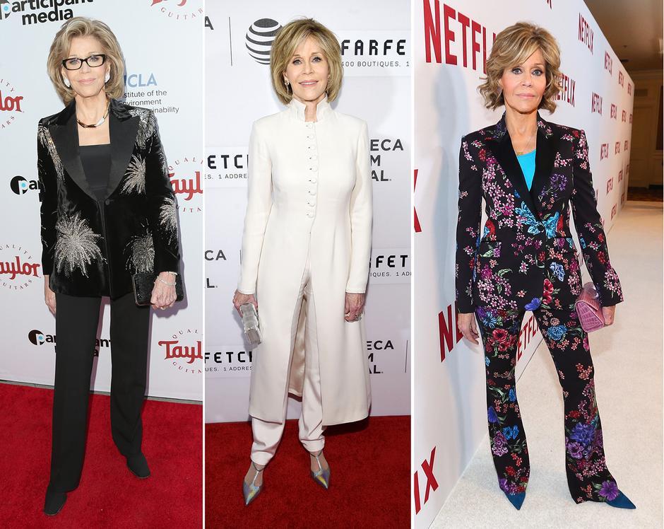 Jane Fonda w kreacjach na czerwony dywan
