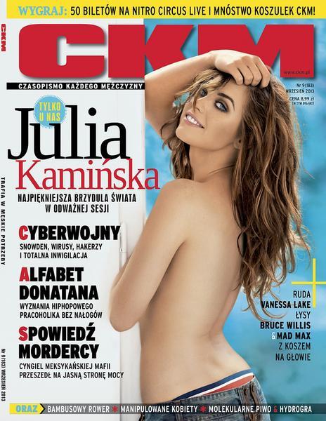 """Julia Kamińska na okładce wrześniowego """"CKM"""""""