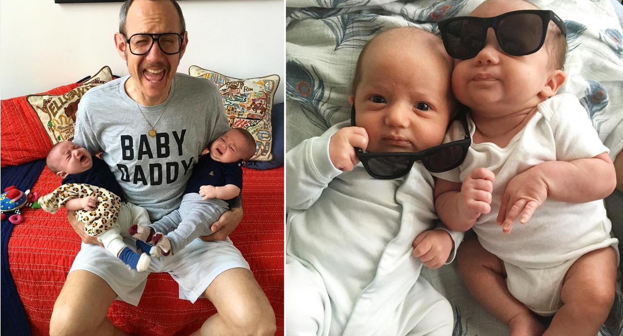 TataTerry i jego synowie Rex i Roman / www.instagram.com/terryrichardson