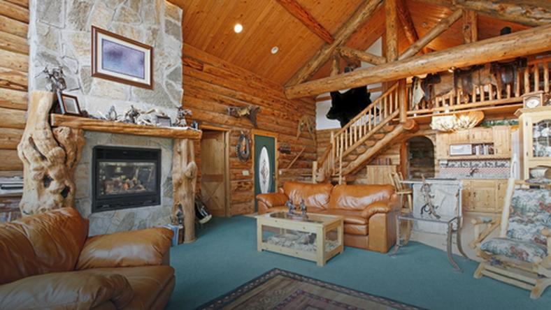 Rustykalny salon prawdziwą oazą spokoju