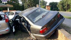 Wjechał BMW do komisu i zdemolował 11 aut