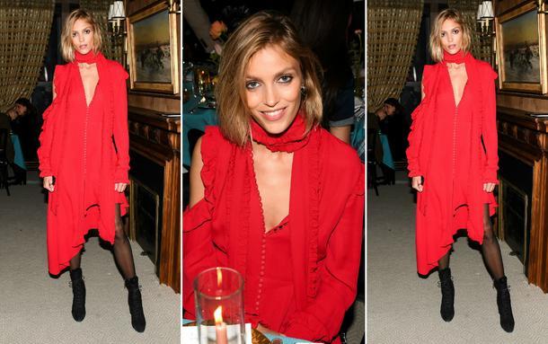 Best Look: Anja Rubik w sukience Magdy Butrym