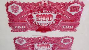 Banknoty pokazujące uzależnienie Polski od Moskwy
