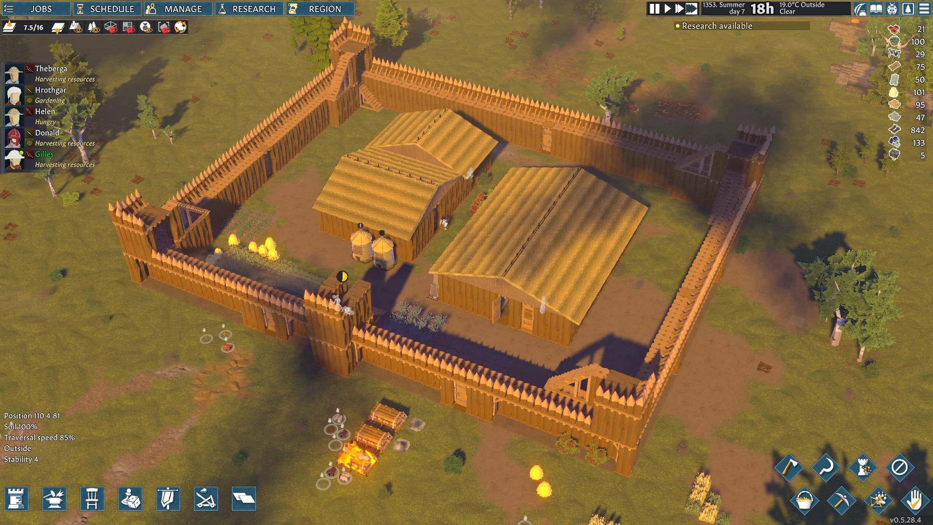 Z ničoho si postupne vybudujeme maličkú osadu alebo pevnosť.