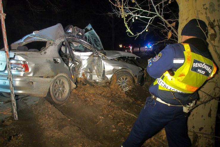 Kisizsáknál történt a tragikus baleset /Fotó: MTI/Donka Ferenc
