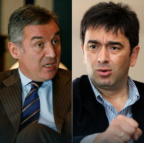 Milo Đukanović, Nebojša Medojević