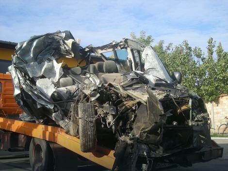 Automobil u kojem je nastradao Saša Češljević