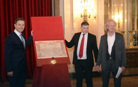 Sinisa Mali, Nikola Nikodijević and Peter Handke