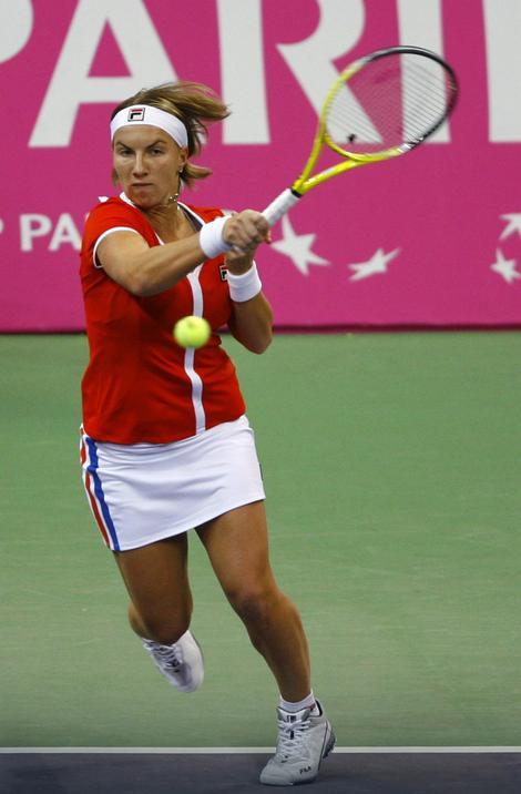 Četvrta teniserka sveta, Svetlana Kuznjecova, na meču sa Ivanovićevom