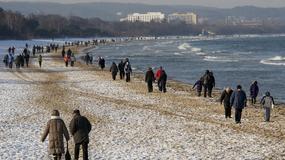 Zima nad polskim morzem