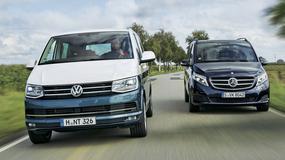 Porównanie: Volkswagen T6 2.0 BiTDI droższy od Mercedesa V 250 d