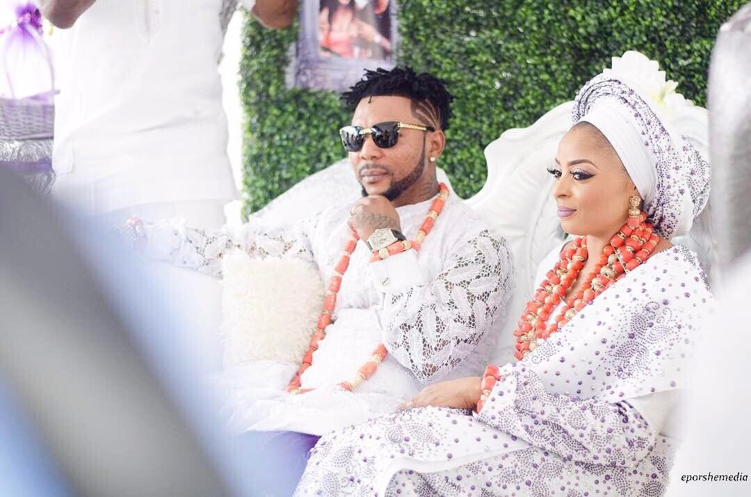 Singer, Oritsefemi and wife, Nabila Fash.