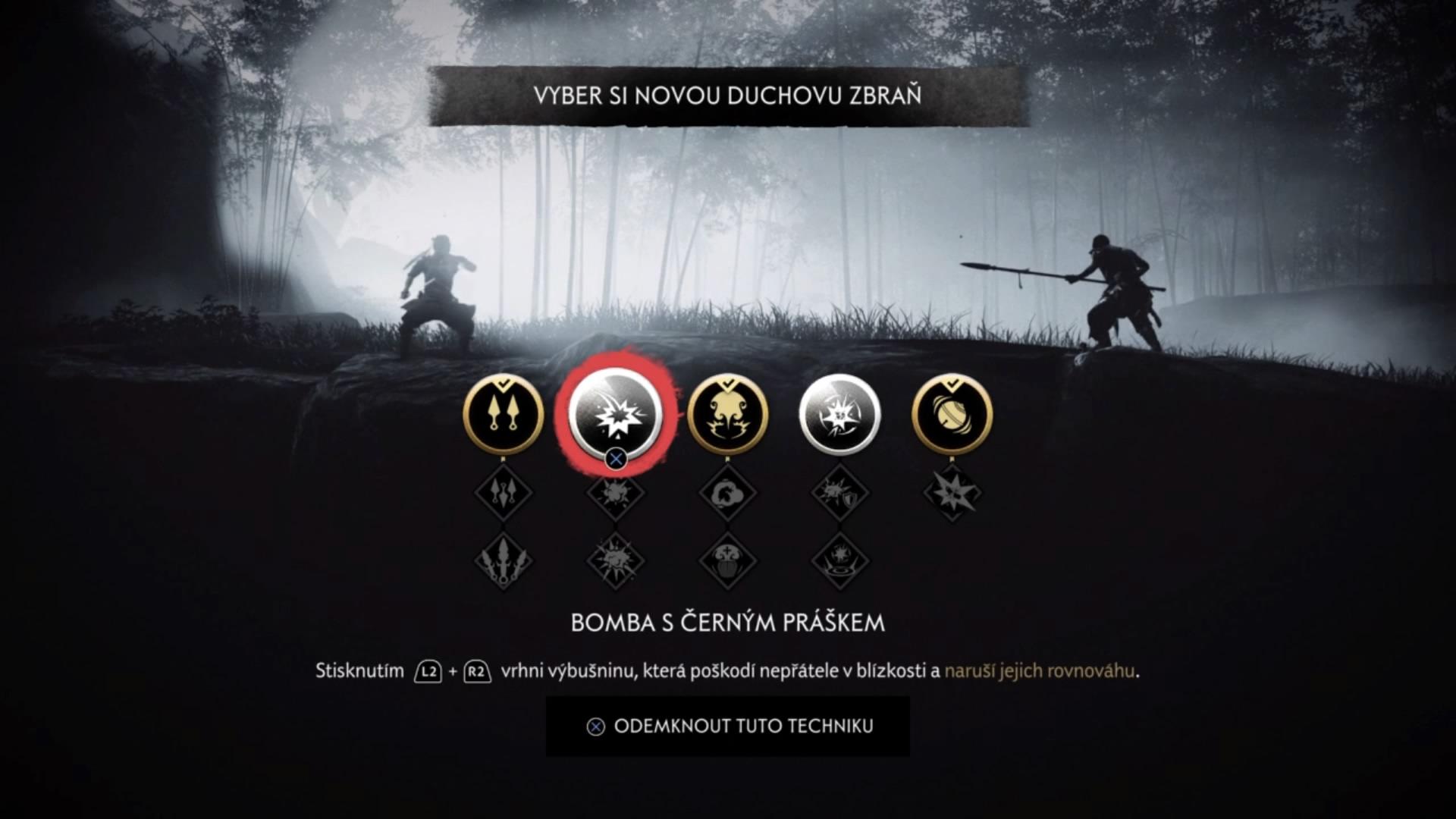 Hra ponúka niekoľko stromov vylepšení. Schopnosti ducha sú užitočné pri nenápadnom postupe.