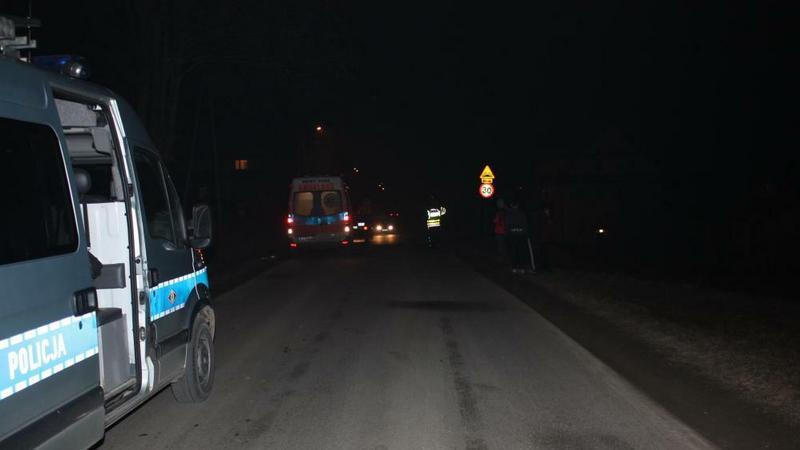Miejsce wypadku w Skawie