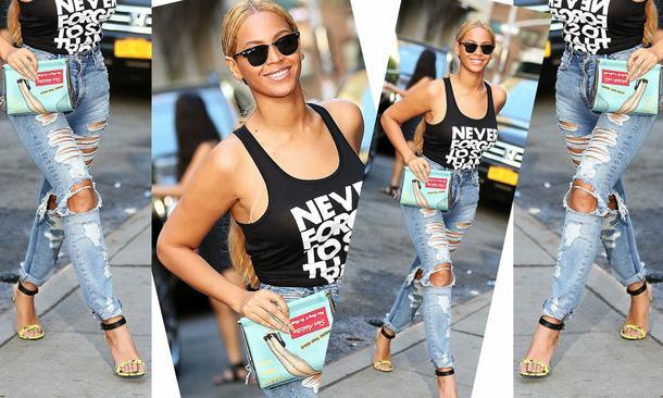 Beyonce w jeansach za 40 dolarów!