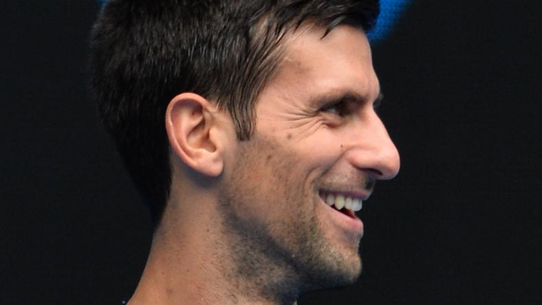 Djokovics ezúttal bohóckodott /Fotó: AFP