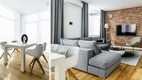 Wygodne 89-metrowe mieszkanie w Gdyni - dominują szarości i biel ocieplona drewnem