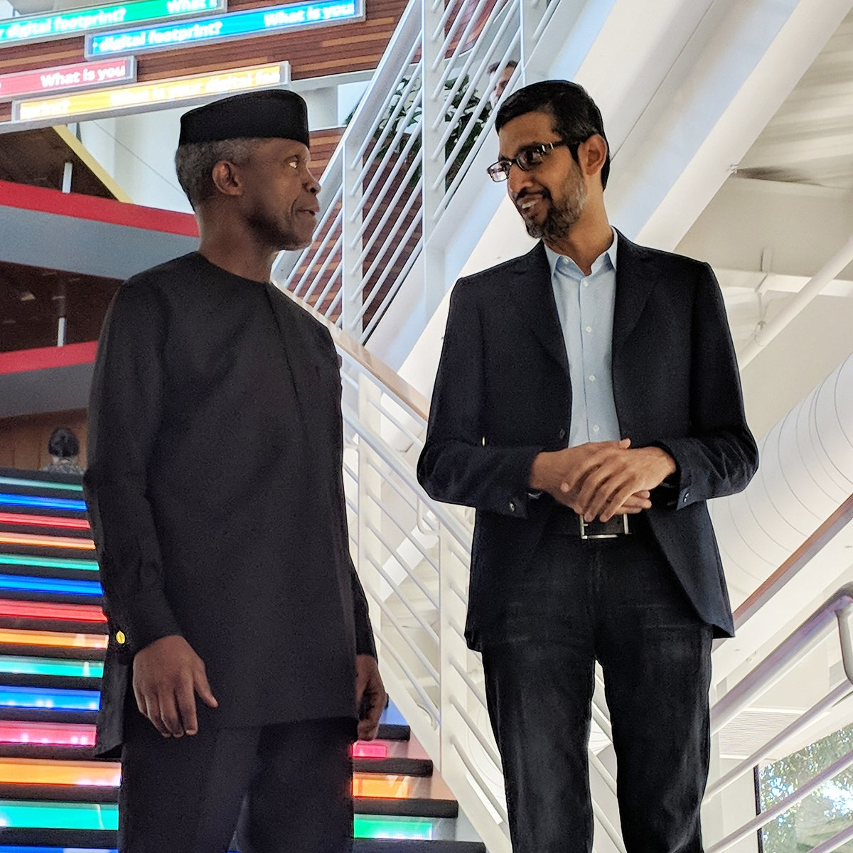 Osinbajo at Silicon Valley, discusses partnership with Google executives (Presidency)