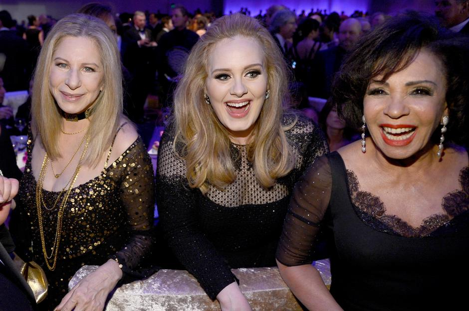 Barbra Streisand, Adele, Shirley Bassey, lity 2013, GettyImages